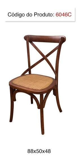 Cadeira Katrina Com Encosto Em X Castanha Super Promoção