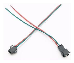 10 Pares Conector 3 Fios Para Led Endereçavel Ws2811 Ws2812b