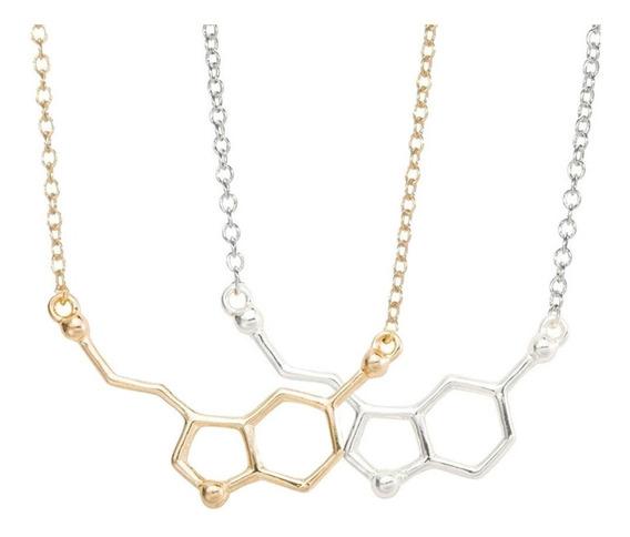 Collar Serotonina Quimica Molecula Ciencia Biologo Cientifico