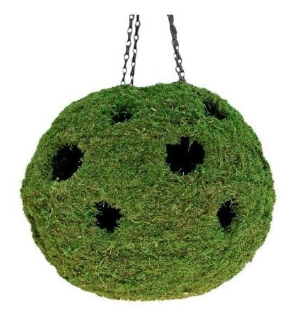 Supermoss Mossweave Hanging Ball Planter Fresh Green 1