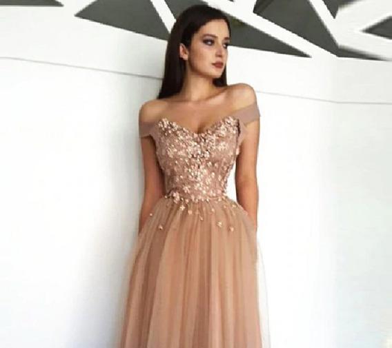 Vestido Longo Luxo Casamento Madrinha Tule Brilho Madrinha