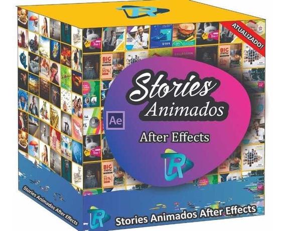 + 8000 Stories Animados Editável After Effects + Brinde