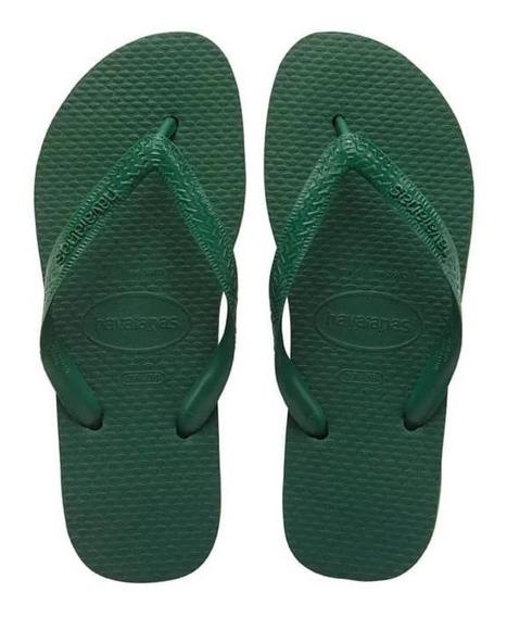Ojotas Unisex Havaianas (originales) Negro Y Verde