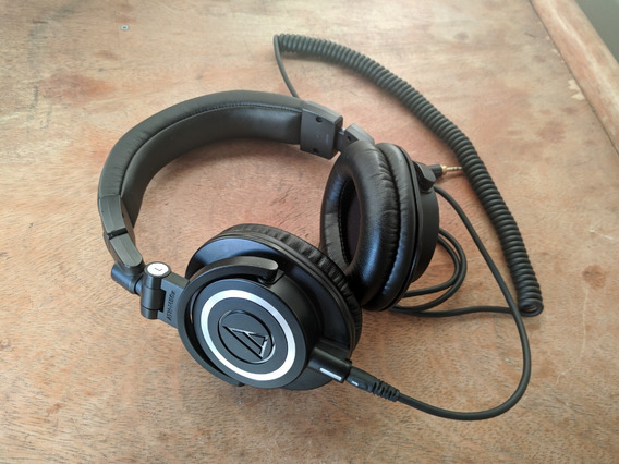 Headphone Profissional Audio Technica M50x Completo