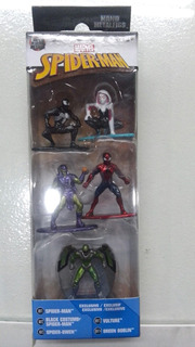 Set 5 Nano Figuras Spider Man Marvel Zona Retro Juguetería