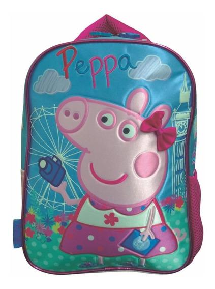 Mochila Espalda Jardin 12puLG Peppa Pig 3d Flor Mundo Manias