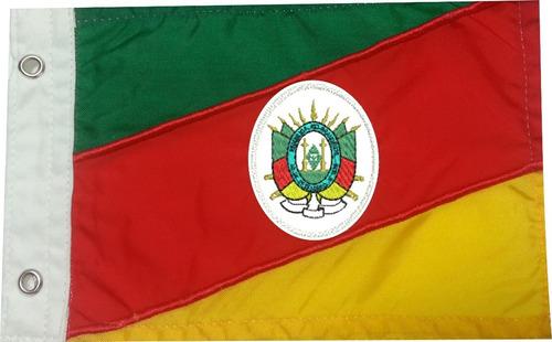 Bandeira Para Moto Do Rio Grande Do Sul  Bordada Dupla Face