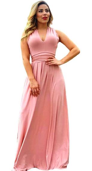 Vestido Longo Feminino Use D Diversas Formas Rápida Postagem