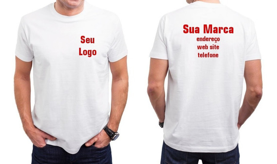 Kit 12 Camisas Personalizada Para Empresas - Frente E Costas