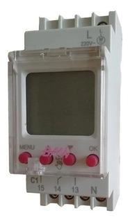 Reloj Horario Digital Temporizador Programable Riel Din Baw
