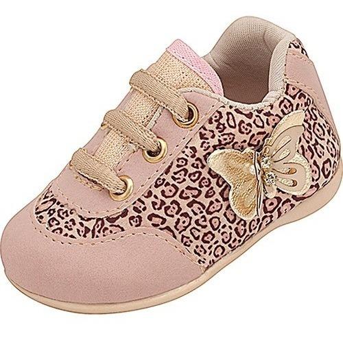 Tênis Infantil Bebê Plis Calçados Oncinha 1135
