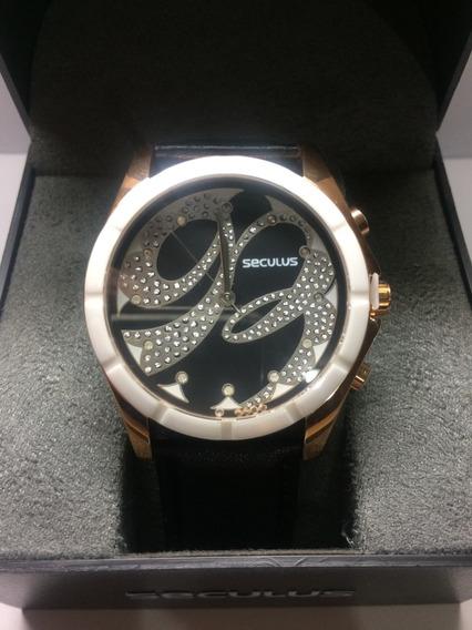 Relógio Feminino Séculus Original, Couro,sem Juros,oferta