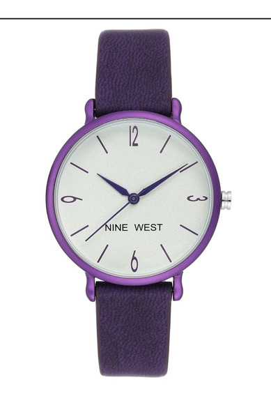 Reloj Nine West Dama, Piel Morado