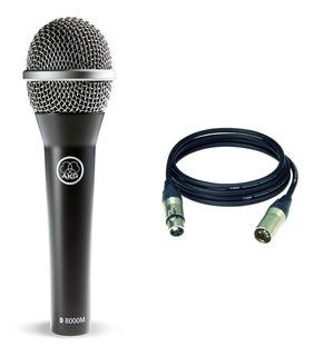 Akg D8000 M Microfono Cable 6m Voces Cristalinas Y Limpias!