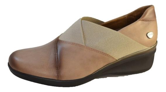 Zapato Cavatini Cuero Mujer Con Elastico En Capellada