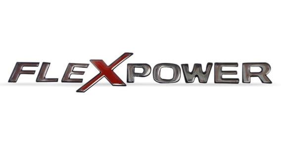 Emblema Adesivo Letreiro Gm Flexpower