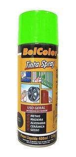 Tinta Spray Luminosa Verde Fluorescente 400ml Beltools