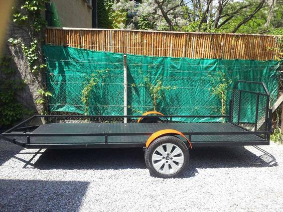 Trailer Doble Cuatri P/750kg Con Rampa