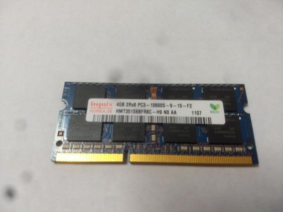 Memória Notebook Hynix 4gb 2rx8 Pc3 10600s-9-10-f2#