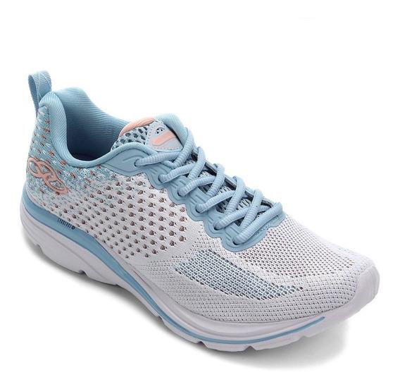 Tênis Olympikus Lançamento Express Feminino Branco E Azul