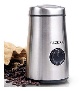 Secura Molinillo Café Y Triturador Especias Eléctrico + Cuch
