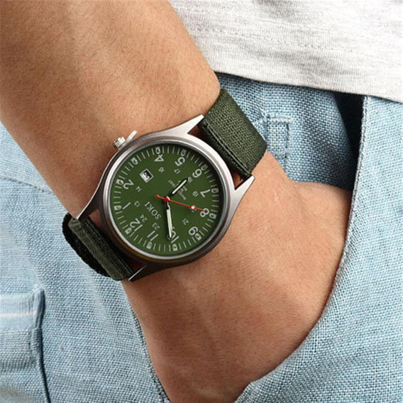 Relógio Masculino De Pulso Soki Unisex Verde