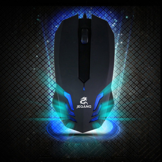 Blue-ray Led 2000 Dpi Usb Com Fio Gaming Mouse Óptico Para C