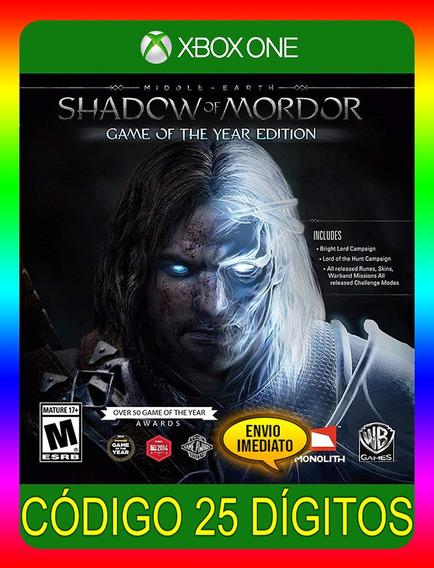 Middle-earth Shadow Mordor Goty Xbox One - (envio Já)