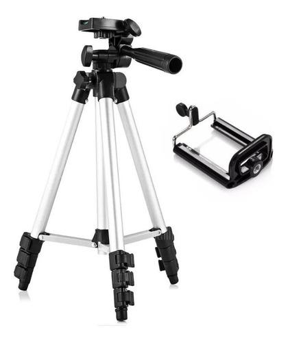 Imagem 1 de 10 de Tripé Universal Telescópico Para Câmera E Celular 1,02 M