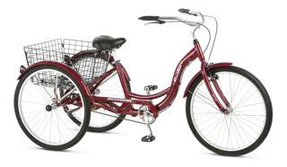 Triciclo Schwinn Color Tinto Adultos Rin 26 Cuadro Aluminio