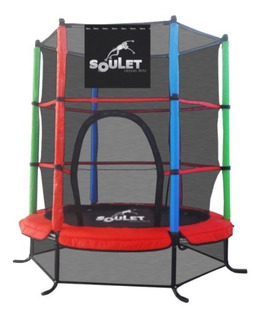Cama Elástica 1,40mt Soulet My First Jump Peso Max 25kg +red