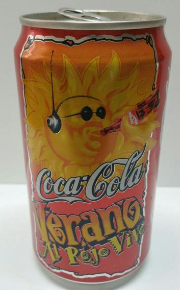 Antigua Lata Coca Cola Verano Al Rojo Vivo