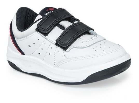 Zapatillas Topper X Forcer Velcro Kids Colegial 100% Cuero