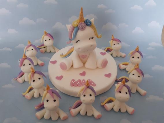Unicornios Porcelana Fria 10 Souvenirs Adornos Torta