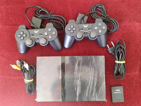 Playstation 2 Slim+2 Controles+1 Memorycard+3 Jogos+garantia