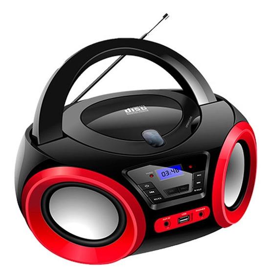 Rádio Portátil Boombox Lenoxx 5w Bd1370 Preto Bivolt