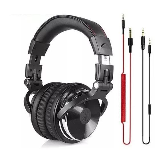 Headphone Oneodio Djs Profissional Microfone Estéreo Gamer