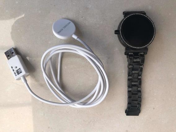 Relógio Michael Kors Mkt5041 Dw5b Preto Samrtwatxh