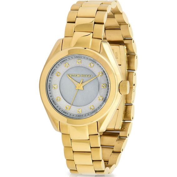 Relógio Victor Hugo Luxo Feminino - Vh10145lsg/55m