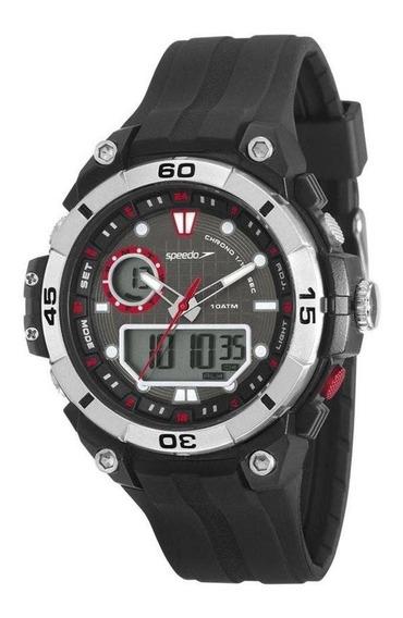 Relógio Masculino Speedo Anadigi 11006g0evnp1 -preto/prata