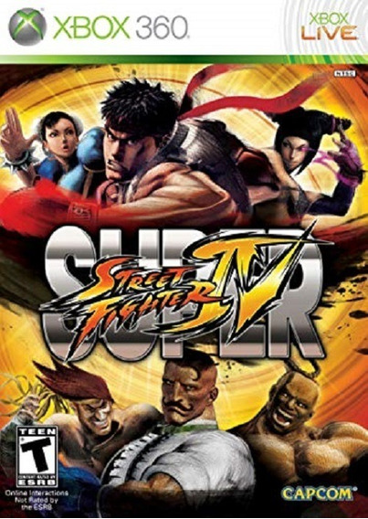Jogo Lacrado Super Street Fighter Iv 4 Xbox 360 Luta Origina