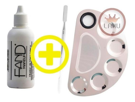 Diluidor De Maquiagem Fand + Placa Com Espatula De Aço Inox