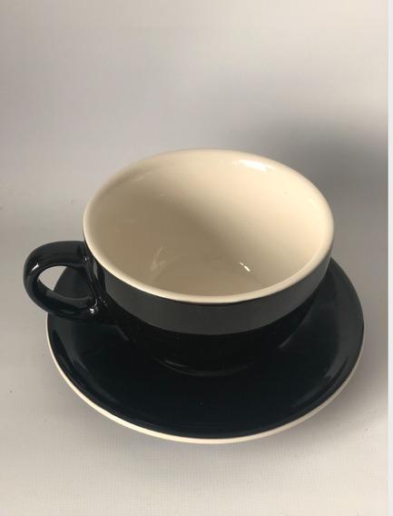 Taza Y Plato Brew Tazon 320 Ml Color Negro