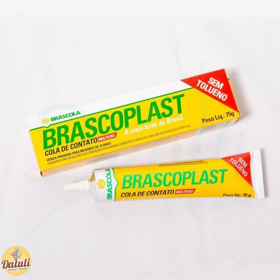 2 Cola Artesanato Brascoplast Bisnaga 75g Brascola Original
