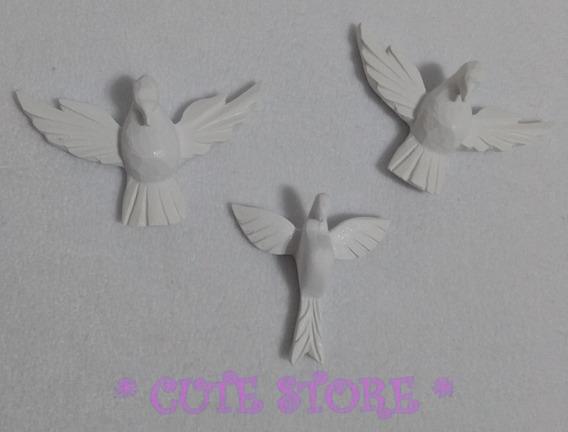 Divino Espírito Santo Branco Resina Trio Artesanato Aplique