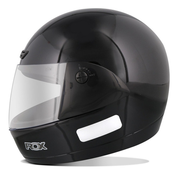 Capacete Moto Ebf 7 Fechado Solid Preto Brilhante Masculino