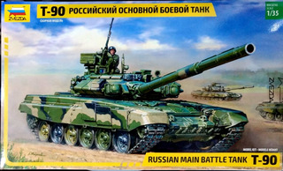 Zvezda 1/35 3573 T-90 Russian Main Battle Tank
