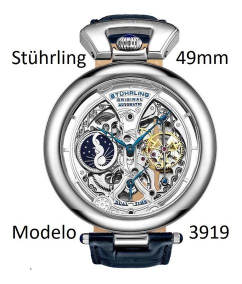 Relógio Stührling Emperor Grandeur 3919 49mm Pronta Entrega