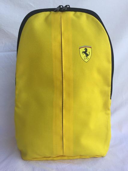 Mochila Shell Ferrari Oficial - Preta Ou Amarela