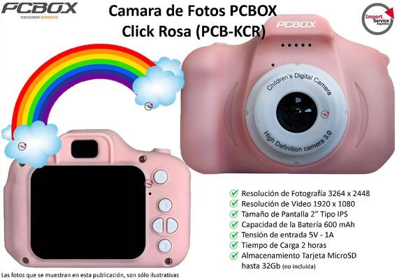 Cámara Y Filmadora De Fotos Pcbox Click Rosa (pcb-kcr)